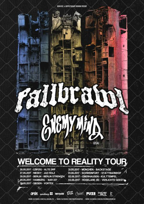 Fallbrawl EnemyMinds tourposter